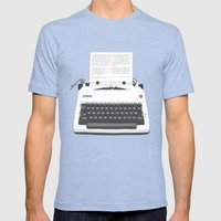 Ruby Sparks Mens Fitted Tee Tri-Blue SMALL