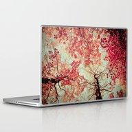 Autumn Inkblot Laptop & iPad Skin