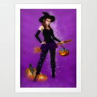 Oktober Witch Art Print