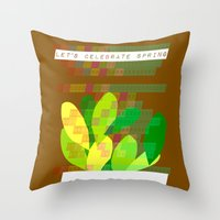 Celebrate Spring Throw Pillow