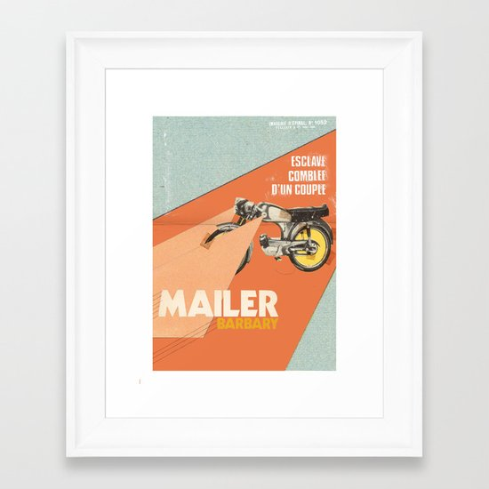 Mailer Barbary Framed Art Print