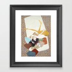 I's drown in burgundy for you Framed Art Print