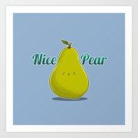 Nice Pear Art Print