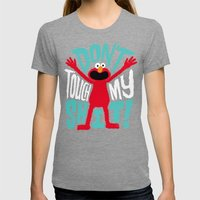 Crazy Elmo Womens Fitted Tee Tri-Grey SMALL