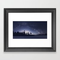 Arcing Over the Puddle Framed Art Print