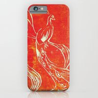 iPhone & iPod Case featuring Peacock of Fire by Eltina Giannopoulou