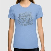 Something Special Womens Fitted Tee Athletic Blue SMALL