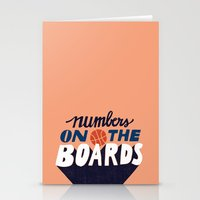 Numbers on the Boards Stationery Cards