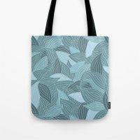 My Dancing Blue Leaves.  Tote Bag