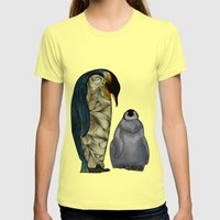 Emperor Penguins Womens Fitted Tee Lemon SMALL
