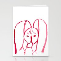 kissing nuns Stationery Cards
