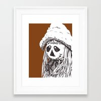 Friendly Scarecrow Framed Art Print