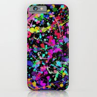 Paint Splatter 1 - Black iPhone 6 Slim Case