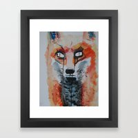 Sly Framed Art Print