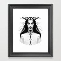 Devil Man Framed Art Print