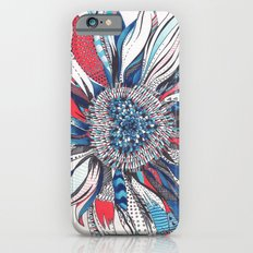 Flower Patterns on White iPhone 6 Slim Case