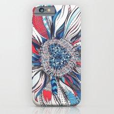 Flower Patterns on White Slim Case iPhone 6s