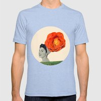 clarice Mens Fitted Tee Tri-Blue SMALL