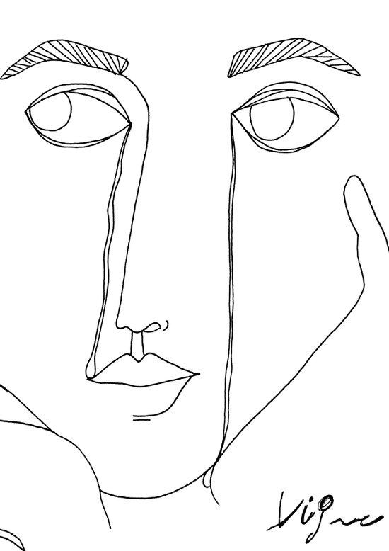 woman crying Art Print