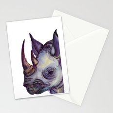 Rhino Blues Stationery Cards