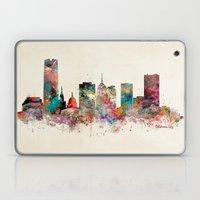 oklahoma city oklahoma skyline Laptop & iPad Skin