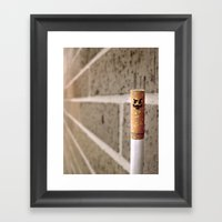 Le'Cigarette Framed Art Print