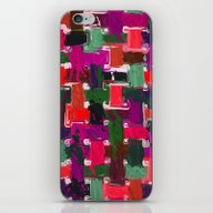 Red, Purple & Green iPhone & iPod Skin
