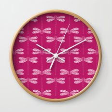 dragonfly in vivacious Wall Clock