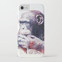 monkey iPhone & iPod Cases featuring Monkey by Cristian Blanxer