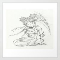 anime Art Prints featuring Anime by Peggy Murphy