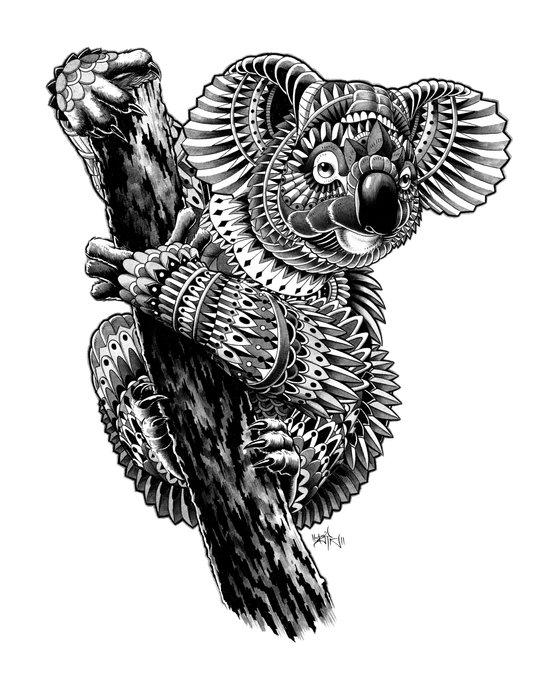 Ornate Koala Art Print