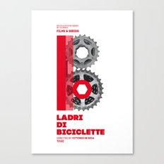 Bike to Life - LadridiBiciclette Canvas Print