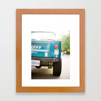 Jeep Scrambler Summer Framed Art Print
