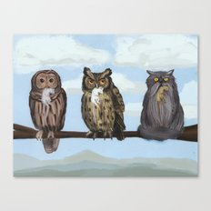 One of These Things is Not Like the Others (aka 'Hoot! Hoot? Mrowr.') Canvas Print