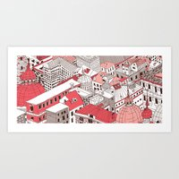 Red City Art Print