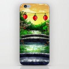 A Bridge Over Placid Waters iPhone & iPod Skin