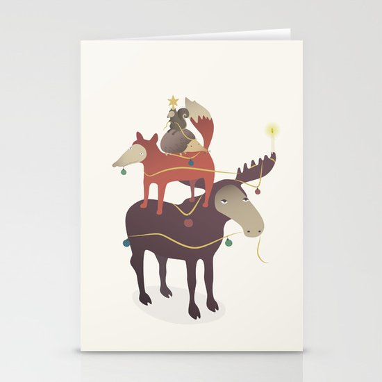 X-Moose Tree Stationery Card