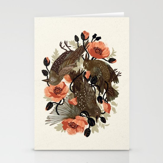 Spangled & Plumed Stationery Card