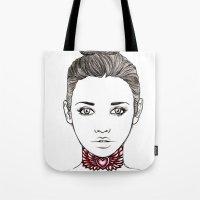 Heart Tattoo Tote Bag