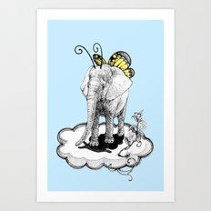 Elephantterfly Art Print