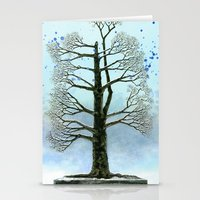 The lonely tree Stationery Cards