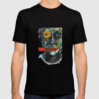 Geometry Face Mens Fitted Tee Black SMALL