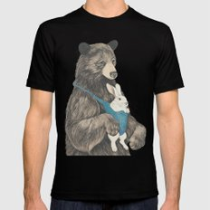 the bear au pair Black SMALL Mens Fitted Tee