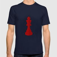 Red Chess Piece - No Text Mens Fitted Tee Navy SMALL