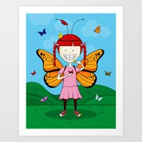 I Heart Butterflies Art Print