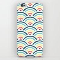 rainbowaves pattern (light) iPhone & iPod Skin