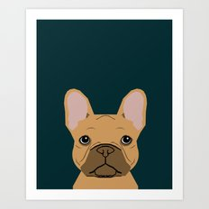 Willow - French Bulldog phone case art design for dog lovers and dog people Art Print