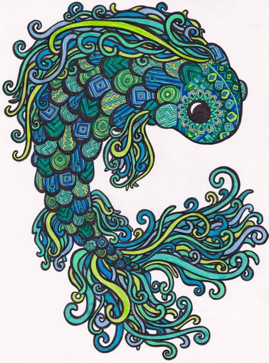 Swish Fish Art Print