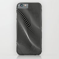 iPhone Cases featuring Minimal curves black by Leandro Pita