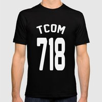 TCOM 718 AREA CODE JERSE… Mens Fitted Tee Black SMALL